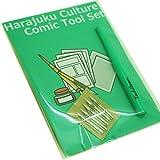 Tachikawa Comic Pen Nib Holder T20 Green & Tachikawa G Pen 5pcs Set(Harajuku Culture Comic Tool Set)