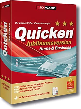 Quicken Home&Business 2012 EV Jubiläumsversion (Version 20.00)