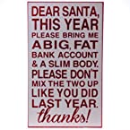Dear Santa Block Sign