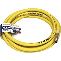 Goodyear Rubber Air Hose - 1/4in. x 10ft., 300 PSI, Model# 12820