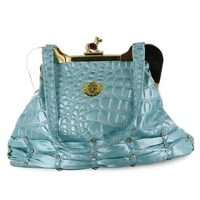 Ladies Turquoise Gem Patent Gold Fashion Handbag Uk : Handbags