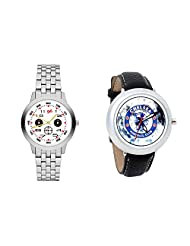 Gledati Men's White Dial And Foster's Women's White Dial Analog Watch Combo_ADCOMB0001821