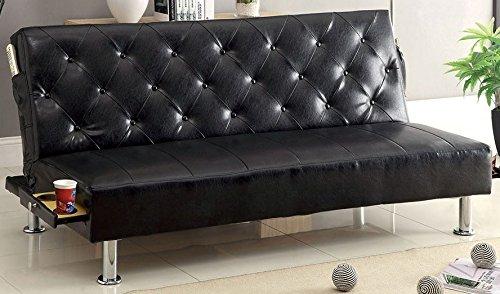 Farel Futon Sofa in Black by Furniture of America