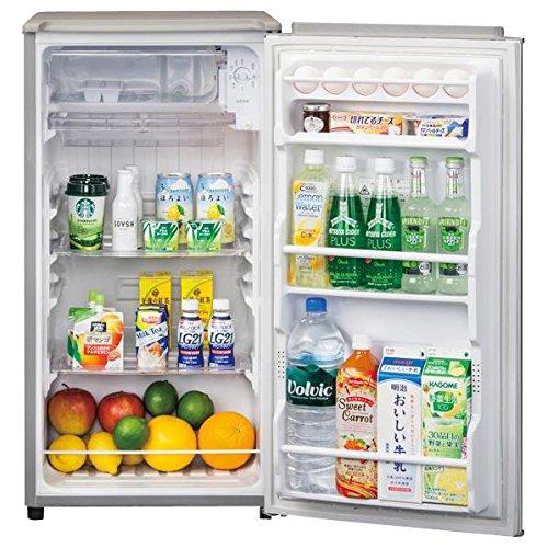 アクア 75L 1ドア冷蔵庫(直冷式)メタリックシルバーAQUA AQR-81C-S