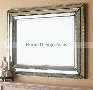 Amazon.com: Large Art Deco Designer Wall Mirror Hollywood ...