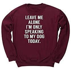 HippoWarehouse LEAVE ME ALONE I'M ONLY SPEAKING TO MY DOG TODAY unisex jumper sweatshirt pullover