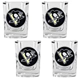 Great American Products Gsspk012-35 4Pc Square Shot Glass Set- Nhl Penguins