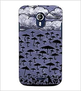 PrintDhaba Umbrellas Design D-3488 Back Case Cover for MICROMAX A116 CANVAS HD (Multi-Coloured)