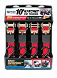 "Highland 9210500 Red 10 x 1"" Ratchet Tie Down - Set of 4"