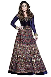 Colour Trendz Navy Blue 9000 Velvet Kareena Style Bollywood Replica Lehenga Choli