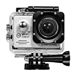 ICONNTECHS IT Action Cameras C2 Sport Action Camera, Full HD 1080P, Impermeabile, Lente Grandangolo 170°, Videocamera WiFi HDMI, Argento
