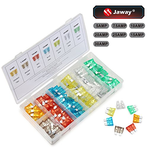 JawayTool 120 Pieces Car Truck Automotive Fuse Assortment 5,7.5,10,15,20,25,30 AMP (Ford Fuses compare prices)