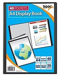 6 A4 Display Book Presentation Folder 40 Pocket Black