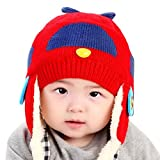 Happy Cherry - Beb�s ni�os ni�as Gorra Gorro Sombrero Infantil Caliente de Invierno para recien nacidos protector de orejas - Rojo 0-3 a�os