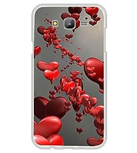Love Hearts 2D Hard Polycarbonate Designer Back Case Cover for Samsung Galaxy J7 J700F (2015 OLD MODEL) :: Samsung Galaxy J7 Duos :: Samsung Galaxy J7 J700M J700H