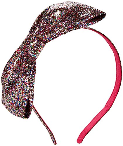 kate spade new york Baby Girls Large Bow Headband Ksaog0553, Multi Glitter, One Size