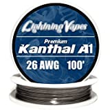 Genuine Lightning Vapes Kanthal 26 Gauge AWG A1 Wire 100ft Roll 0.40386 mm , 3.21 Ohms/ft Resistance