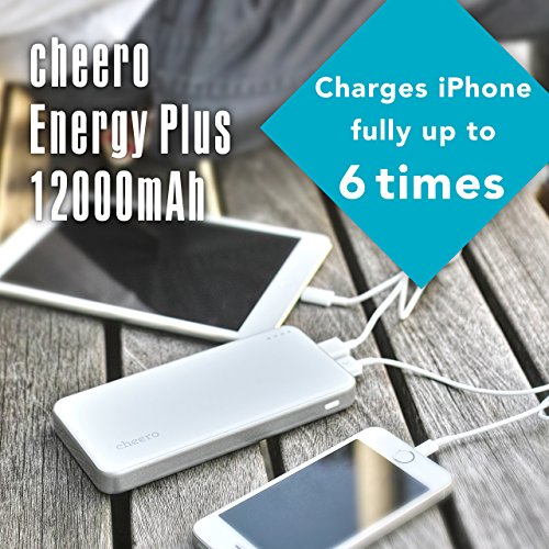 Cheero-Energy-Plus-12000mAh-(Including-2A-USB-AC-Adaptor)-Power-Bank