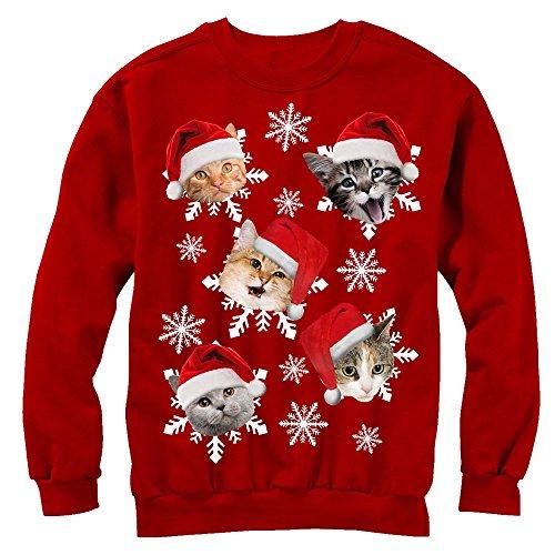 Lost Gods Christmas Cat Snowflakes Womens M Graphic Sweatshirt - Lost Gods
