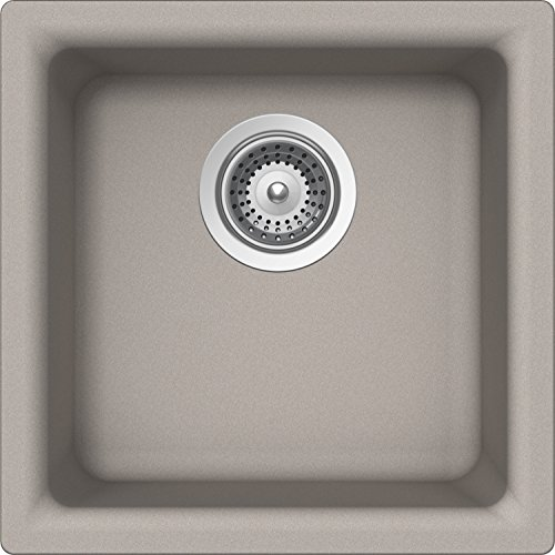 SCHOCK EURN100T042 EURO Series CRISTALITE Dual Mount Square Bar/Prep Sink, Concrete