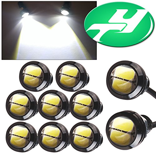 YINTATECH 10Pcs 23mm 9W White Led Eagle Eye High Power 5730 LED Fog Daytime Running Rock Cargo Step Courtesy Reverse Marker DRL Backup Lights Bulbs (Running A Electrical Company compare prices)