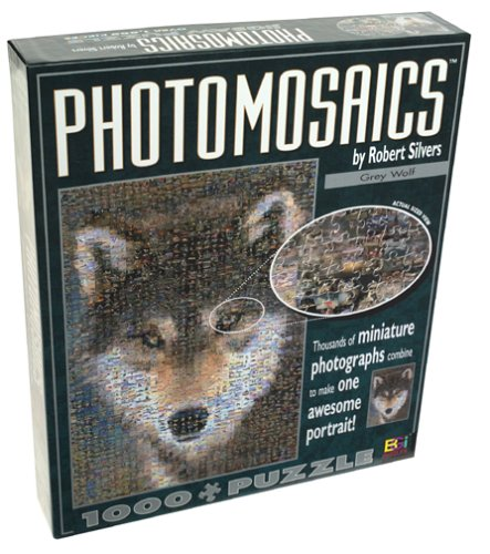 Cheap Buffalo Games Photomosaics: Grey Wolf by Robert Silvers 1000 piece Jigsaw Puzzle (B00005RH4V)