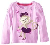 Watch Me Grow! by Sesame Street Baby-Girls Infant 1 Piece Monkey Swing Pullover, Purple, 12 Months
