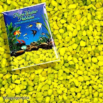 Pure Water Pebbles Aquarium Gravel, 25-Pound, Neon Yellow