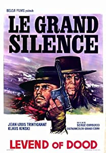 The Big Silence Poster Movie Belgian 11x17 Klaus Kinski Jean-Louis Trintignant Frank Wolff