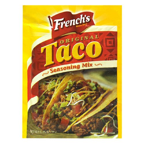 Buy French's Seasoning Mix, Taco, 1-Ounce Packets (Pack of 24) (French's, Health & Personal Care, Products, Food & Snacks, Seasonings Herbs & Spices)