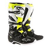 Alpinestars Tech 7 Enduro Motocross Boots - Black/White/Yellow - 11 (Color: Black/White/Yellow)
