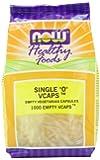 NOW Foods Single 0 Vcaps, 1000 Empty VCaps