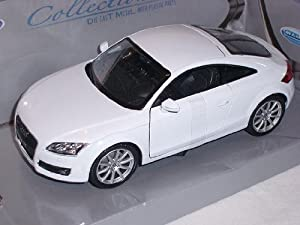 audi tt coupe 2007 weiss 2 generation 1 24 welly modellauto modell auto spielzeug. Black Bedroom Furniture Sets. Home Design Ideas