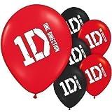 One Direction Ballons Geburtstag 1D Latex Luftballons 6 Stück