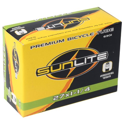 Sunlite Bicycle Tube, 27 x 1-1/4 SCHRADER Valve