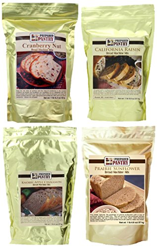 The Prepared Pantry Fruit and Nut Collection of Bread Mixes, 84.6 Ounce (Cinnamon Raisin Bread Machine Mix compare prices)
