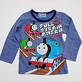 きかんしゃトーマス 長袖Tシャツ (643TM4021) (110cm, 杢ブルー)