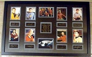 Star Trek Original Series Cast Laser Signatures framed and matted 22x34 William Shatner Captain Kirk