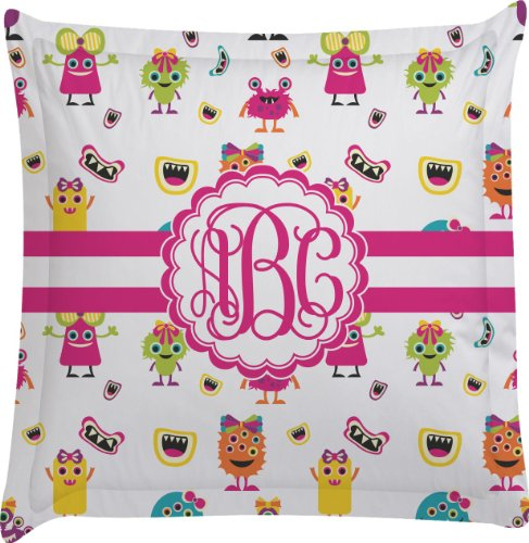 Girly Monsters Personalized Euro Sham Pillow Case front-987839