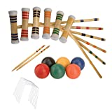 DMI Sports Expert 6-Player Croquet Set Mallet and Carrying Case, 28-Inch