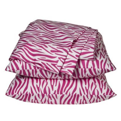 Xhilaration Full Size Sheets Pink Zebra Stripes Sheet Set Double Bedding front-705246