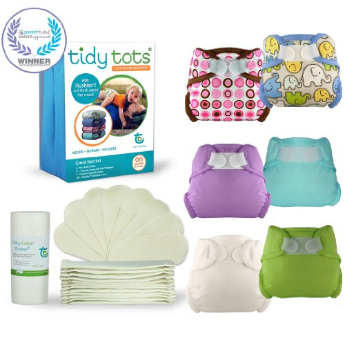 Tidy Tots Cloth Diaper Great Start Set (One Size 10-40 lbs) - 1