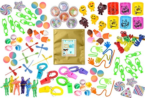 [100 Piece Bulk Party Favor Bundle Assortment of Toys for Parties, Pinatas, Claw Machines, Classroom or] (Halloween Pull Apart Cupcakes)