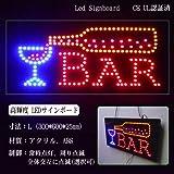 LEDサインボード BAR 300×600 LED 看板 サインボード bar Bar バー カクテル グラスに注ぐ モーションパネル / モーション / 光る看板 / ネオン看板 / 電子看板 / 電飾看板 / 店舗 / ネオンサイン / ネオン