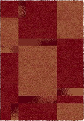 Contemporary designer rug red