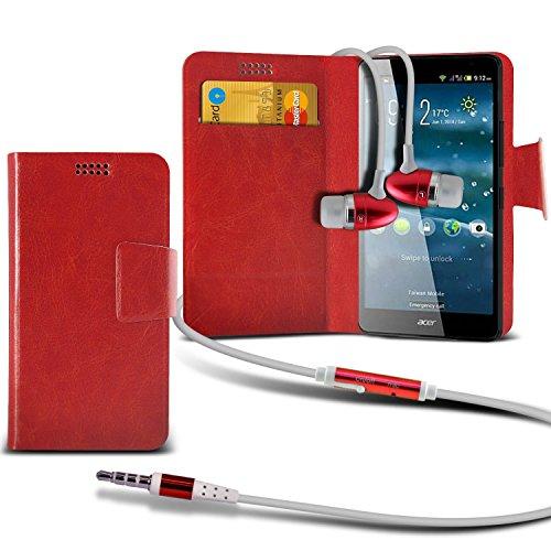 rouge-ecouteurs-aldi-medion-vie-x4701-md-98272-case-haute-qualite-thin-faux-aspiration-de-cuir-pad-w