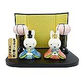 ミッフィー 雪洞(ぼんぼり)付ミニ雛 183115 二人飾り(親王飾り) 雛人形・ひな人形