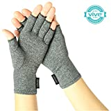 Arthritis Gloves by Vive - Compression Provides Relief from Arthritis in Hands - Aids Finger Joint Pain - Ideal Hand Gloves for Arthritis - One Pair - Vive Guarantee