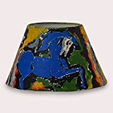 ExclusiveLane Conical Lampshade - Canvas Handpainted (11 Inch)