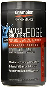 Champion Performance Amino Shooter Edge Supplement, Blue Raspberry, 14.70 ounces